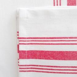 Servilletas blanca rayas rojas