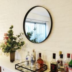 espejo redondo negro 60cm