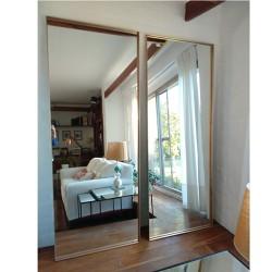 espejo rectangular 180x70 dorado