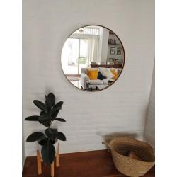espejo redondo blanco 80cm