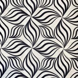 Mantel de tela antimanchas dibujo blanco y negro