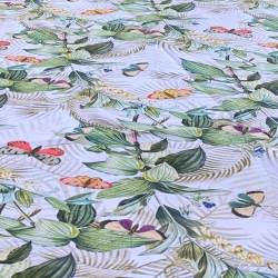 Mantel de tela antimanchas mariposas